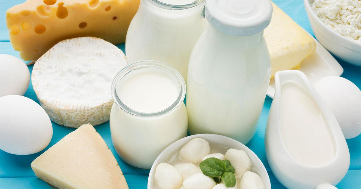 محصولات لبنی برای دریافت ویتامین B12