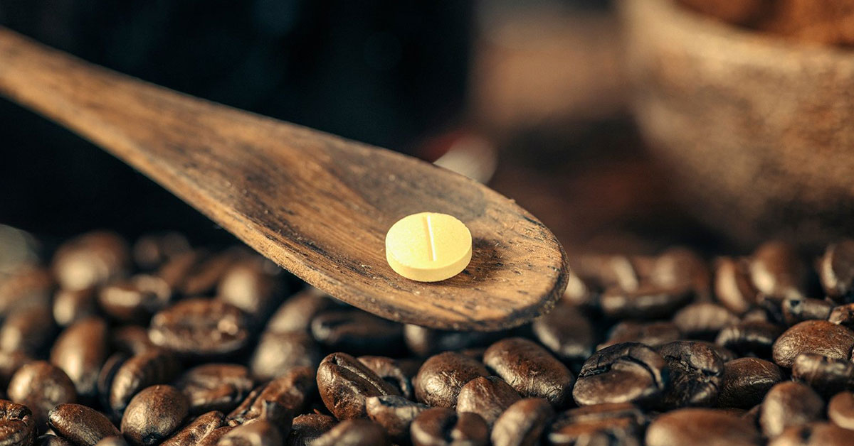 نحوه مصرف قرص کافئین